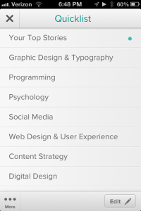 Category / Topic listing view
